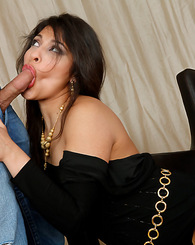 Laurie Vargas is lonely without her husband so she fucks his tope employee.